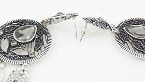 Brinco Indiano Prata E Dourado Envelhecido Bijuteria Fina